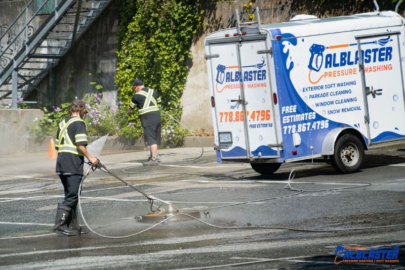 Commercial parking lot cleaning in West Vancouver