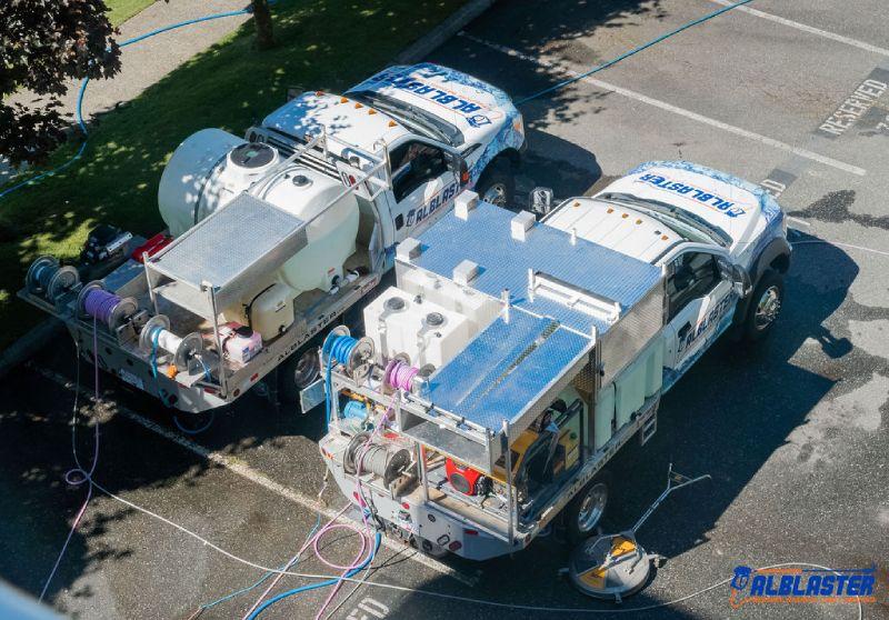 Pressure washing trucks