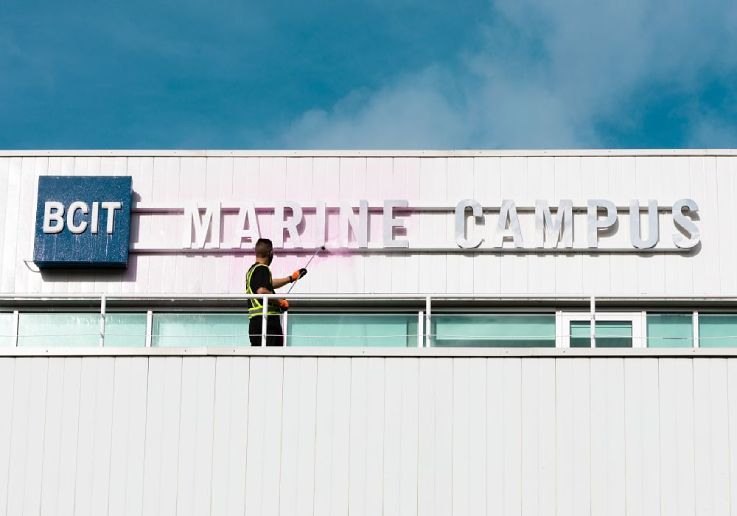 Commercial Soft Washing - BCIT North Vancouver